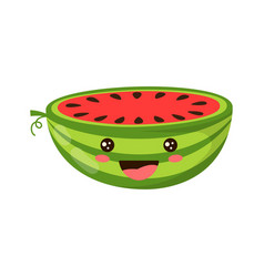 cartoon watermelon isolated on white vector image
