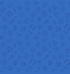 chemistry blue pattern chemical seamless vector image