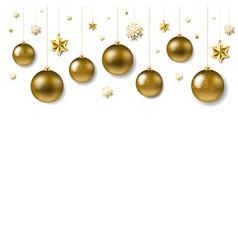 christmas ball border vector image