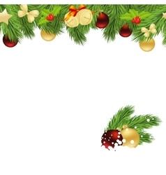 Christmas corner vector