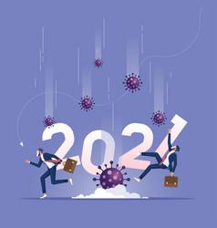 coronavirus pandemic crisis concept vector image