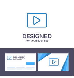 Creative business card and logo template youtube vector