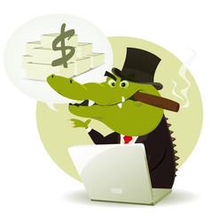 Crocodile bankster crook vector
