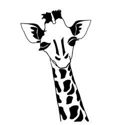 Cute giraffe for coloring vector image