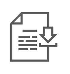 Documents line icon vector