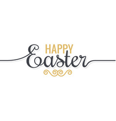 easter background vintage lettering on white vector image