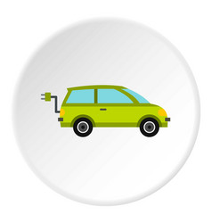 Eco car icon circle vector