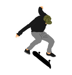 Extreme sport game skateboarder air jump trick vector