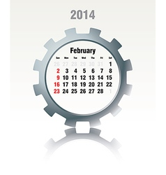 February 2014 - calendar vector image
