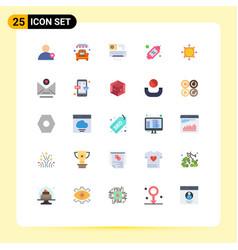 Flat color pack 25 universal symbols dart vector
