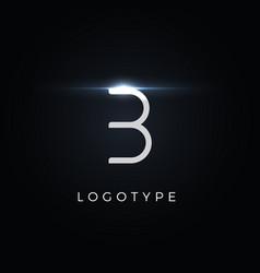 Futurism style letter b minimalist type vector