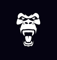 gorilla face and head vector image