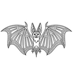 Halloween doodle coloring book page vector
