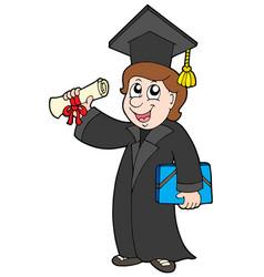 Happy graduate student vector