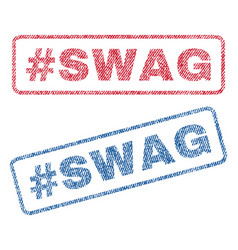 Hashtag swag textile stamps vector