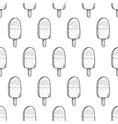 Ice Cream Easy Pattern Linear-37 vector
