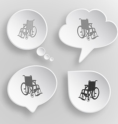 Invalid chair White flat buttons on gray vector image