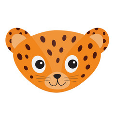 jaguar leopard head wild cat smiling face orange vector image