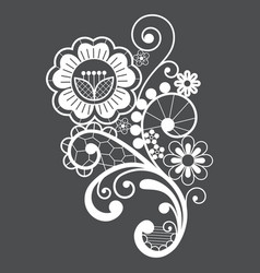lace motif retro single design ornamental vector image