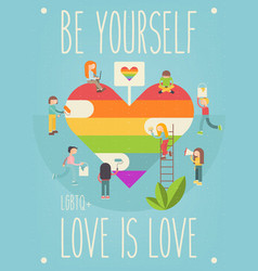 Lgbt people community poster vector