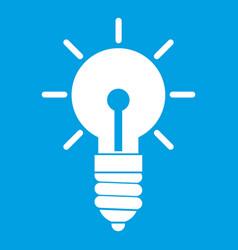 Light bulb idea icon white vector
