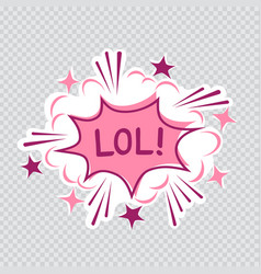 lol cartoon transparent vector image
