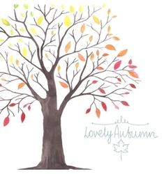Lovely autunm tree 1 vector