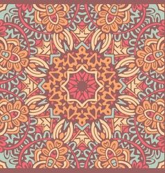 mandala patternhand drawn background vector image