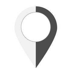 map point icon on white background flat style vector image
