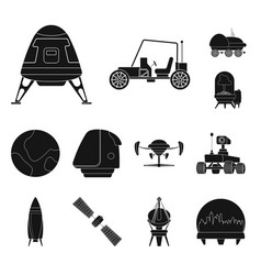 Mars and space logo vector