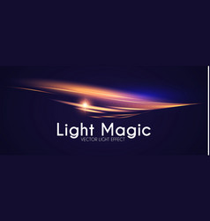 motion light effect shining wave glow design vector image