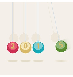 Newtons Cradle New Year card vector