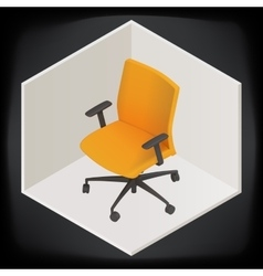 Office chair isometric perspective vector