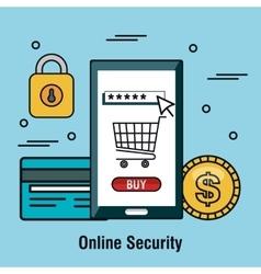 Online security buy shop internet graphic vector