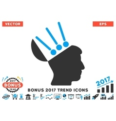 Open Mind Interface Flat Icon With 2017 Bonus vector image