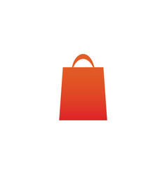 orange gradient shopping bag retail vector image