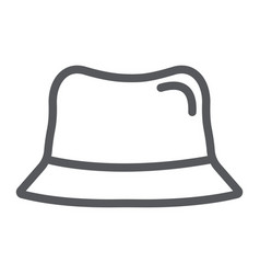 panama hat line icon clothes and accessory cap vector image