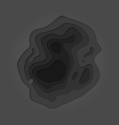 Papercut layer black color gradient background vector