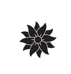 Petunia black concept icon petunia flat vector