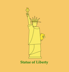 Portrait statue of liberty usa poster black and vector