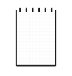 Realistic blank notepad vector