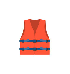 red life vest jacket for children vec vector image