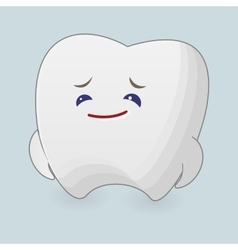 Sad tooth vector