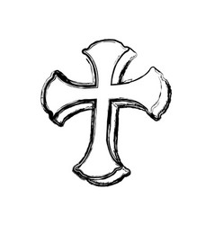 Saint cross christianity vector