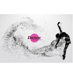 Silhouette a dancing girl from particle dancer vector