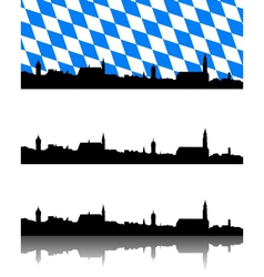Silhouette of Straubing Bavaria vector image