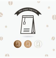 slim paper bag icon vector image