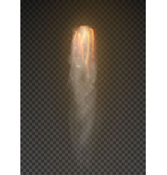 space rocket bomb smoke isolated on transparent vector image