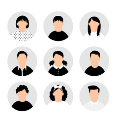 teens avatars collection vector image