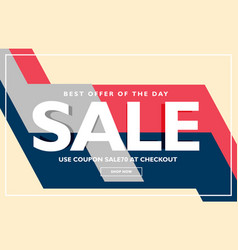 trendy sale poster banner design template vector image
